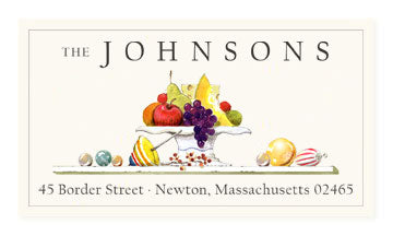 holiday fruit panoramic return address labels by felix doolittle