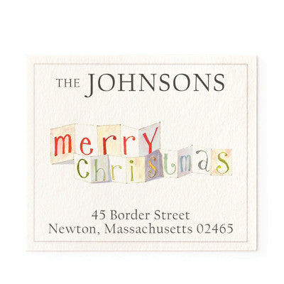 merry christmas return address labels by felix doolittle