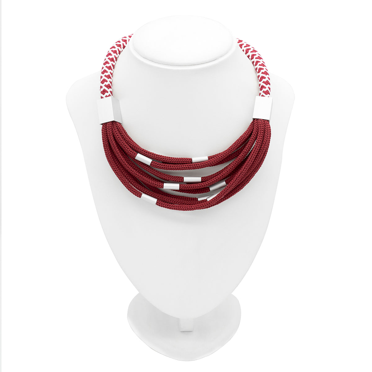 ROPE NECKLACE RED CB13