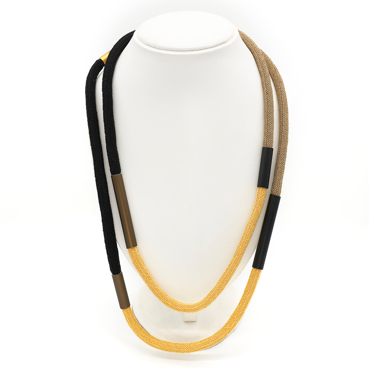 HERRINGBONE  CORD NECKLACE CB62