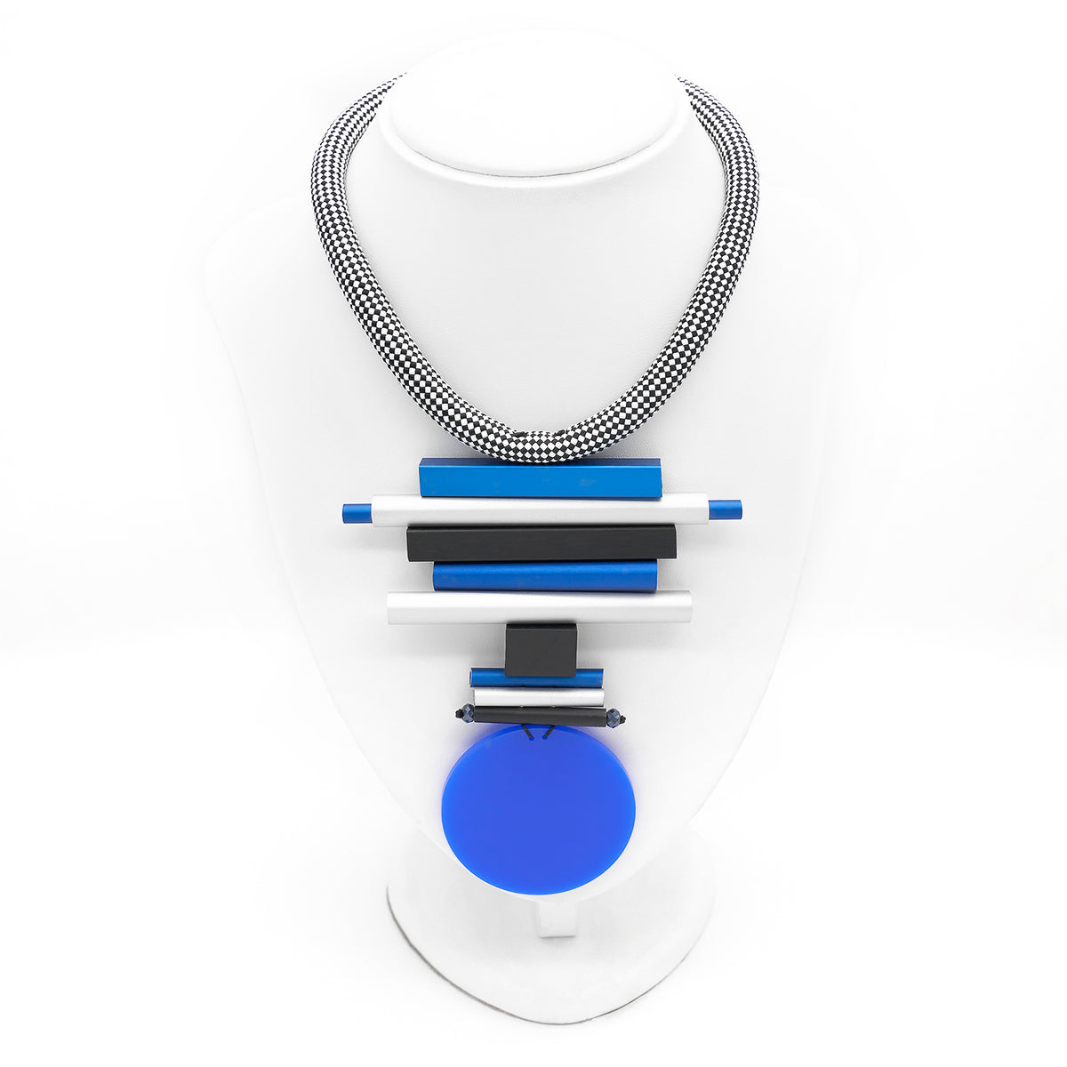 COBALT RESIN NECKLACE CB87