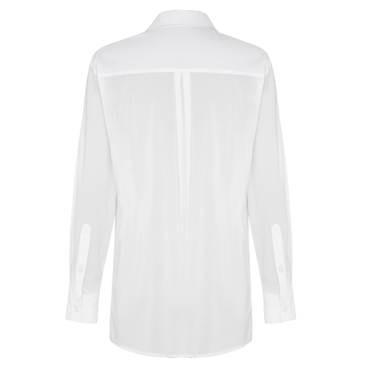 CASCADING MEADOW SILK SHIRT - CHALK