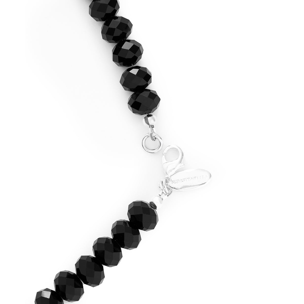 BLACK CRYSTAL MEDIUM NECKLACE | 7MM