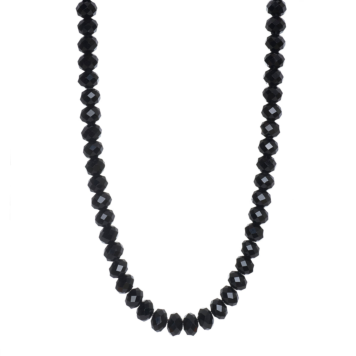 BLACK CRYSTAL SHORT NECKLACE | 7MM
