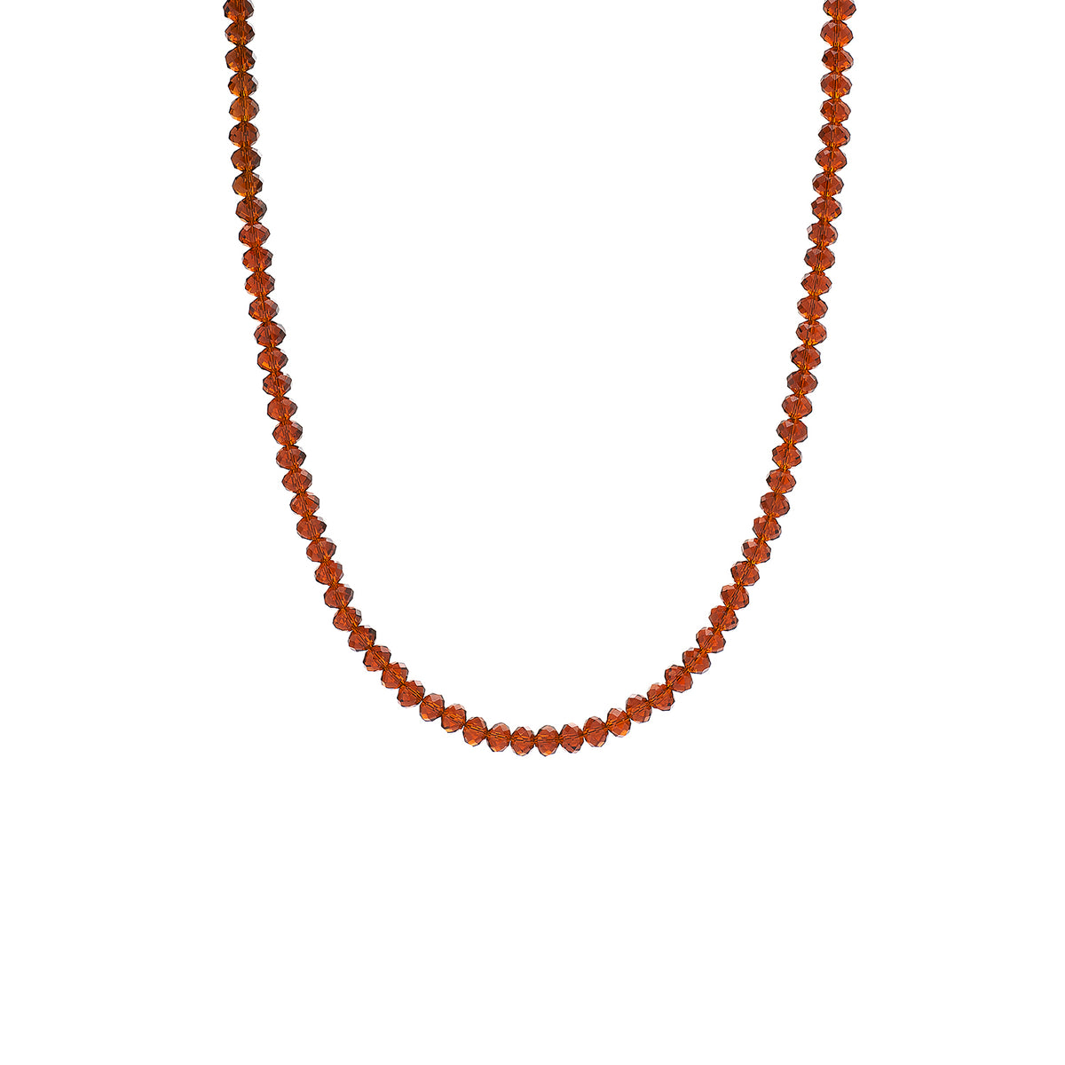 BROWN AND GOLD  SHORT NECKLACE