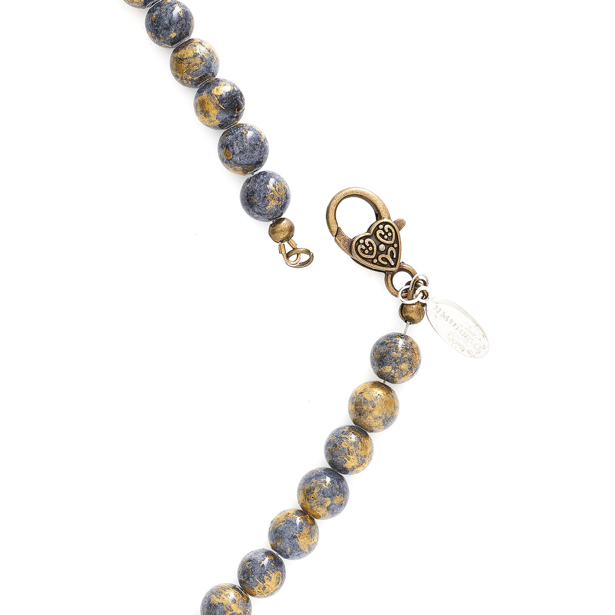 GREY GOLD JADE LONG NECKLACE