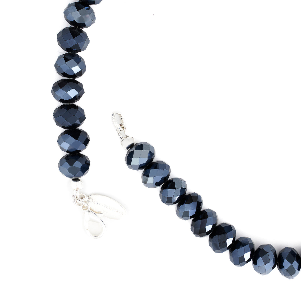 HEMATITE LONG NECKLACE | 7MM BEAD