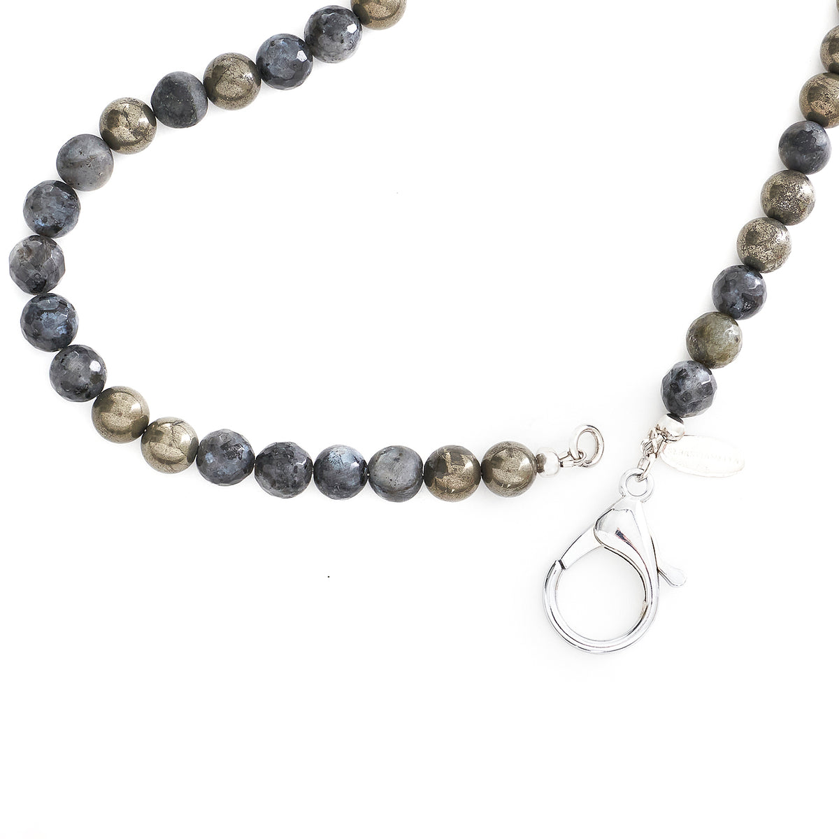 MIXED LABRADORITE SHORT NECKLACE