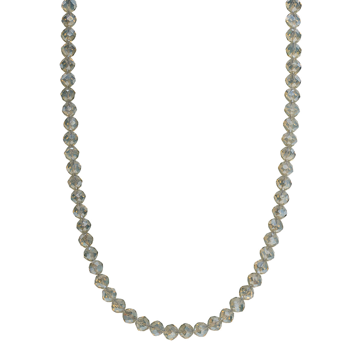 SAND LONG NECKLACE |8MM BEAD