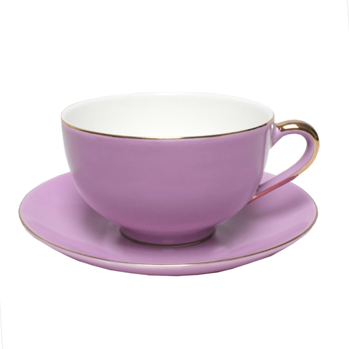 VINTAGE ROYALE CUP AND SAUCER SET OF TWO | VIOLET