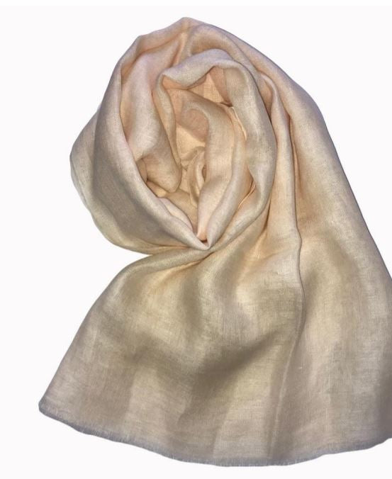 SOFT PEACH LINEN SCARF