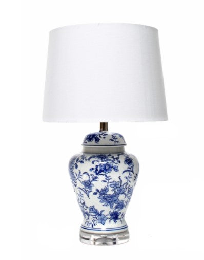 DAMASK LAMP | BLUE AND WHITE