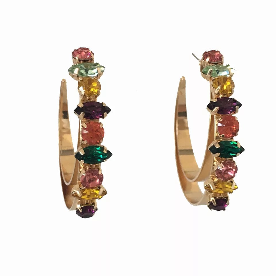STELLA HOOPS | JEWEL TONES