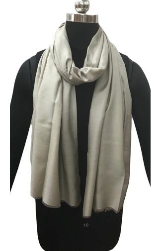 SILK SCARF | TAUPE
