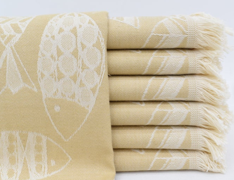 TURKISH TEA TOWEL | YELLOW FISH