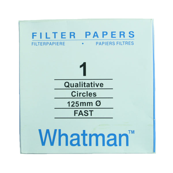 Filter Paper 12.5 cm 100 Discs Qualitative Fast 101 - Avogadro's Lab Supply