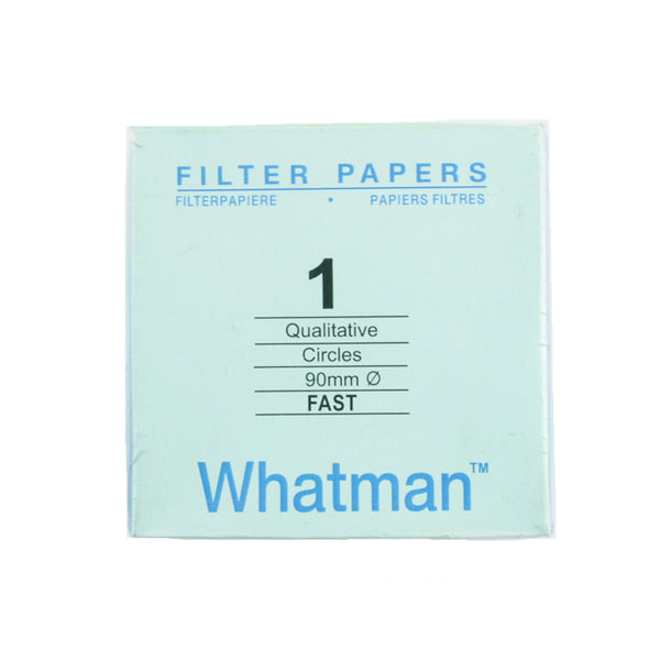 Filter Paper 9 cm 100 Discs Qualitative Fast 101 - Avogadro's Lab Supply