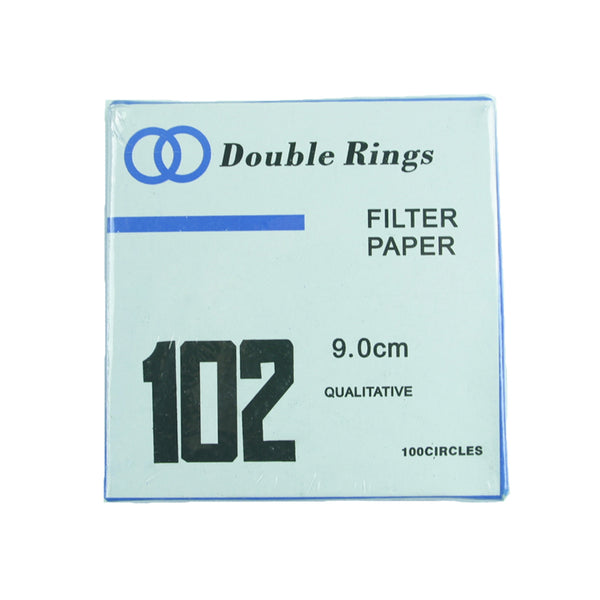Filter Paper 9 cm 100 Discs Qualitative Medium 102 - Avogadro's Lab Supply