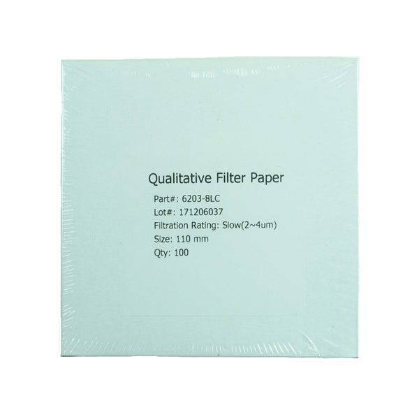 Filter Paper 11 cm 100 Discs Qualitative Slow 103 - Avogadro's Lab Supply
