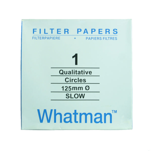 Filter Paper 12.5 cm 100 Discs Qualitative Slow 103 - Avogadro's Lab Supply