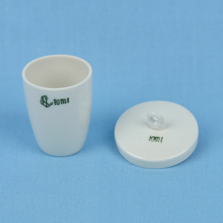 10 mL Porcelain Crucible with Lid - Avogadro's Lab Supply