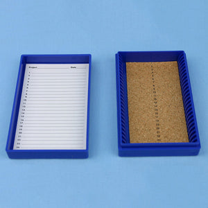 25 Place Cork Lined Microscope Slide Box - Avogadro's Lab Supply