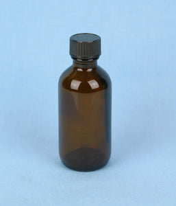 60 mL Boston Round Amber Solution Bottle - Avogadro's Lab Supply
