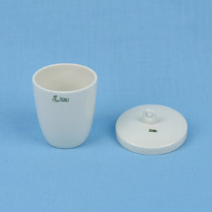 30 mL Porcelain Crucible with Lid - Avogadro's Lab Supply