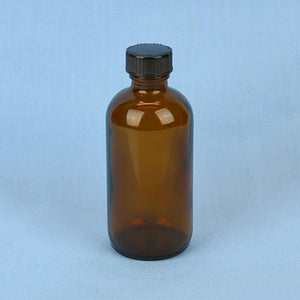 120 mL Boston Round Amber Solution Bottle - Avogadro's Lab Supply