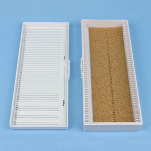 50 Place Cork Lined Microscope Slide Box - Avogadro's Lab Supply
