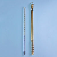 "PTFE Coated Armored 8"" Lab Thermometer -10 to 150 C - Avogadro's Lab Supply"