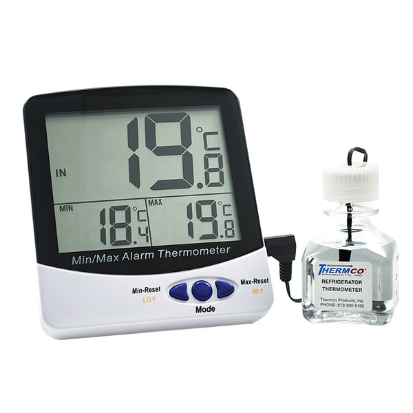 Certified Digital Refrigerator Thermometer -50  to 70 C Cert @ +4.0ºC - Avogadro's Lab Supply