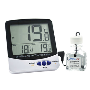 Certified Digital Ambient RoomThermometer -50  to 70 C Cert @ +22ºC - Avogadro's Lab Supply