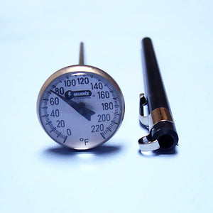 "Magnified Dial Thermometer 0 to 220 F w/ 5"" Stem - Avogadro's Lab Supply"