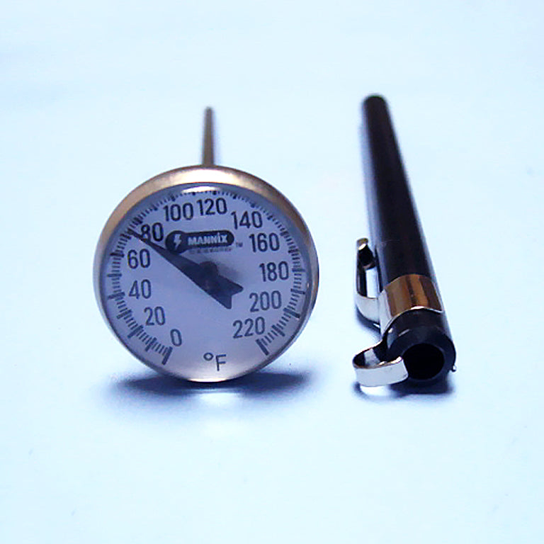 Magnified Dial Thermometer 0 to 220 F w/ 5