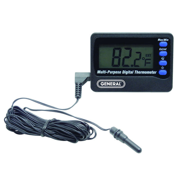 Digital Aquarium Thermometer w/ 10' External Sensor - Avogadro's Lab Supply
