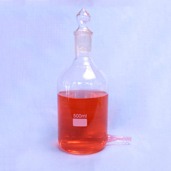 Aspirator Bottle 500 mL - Avogadro's Lab Supply