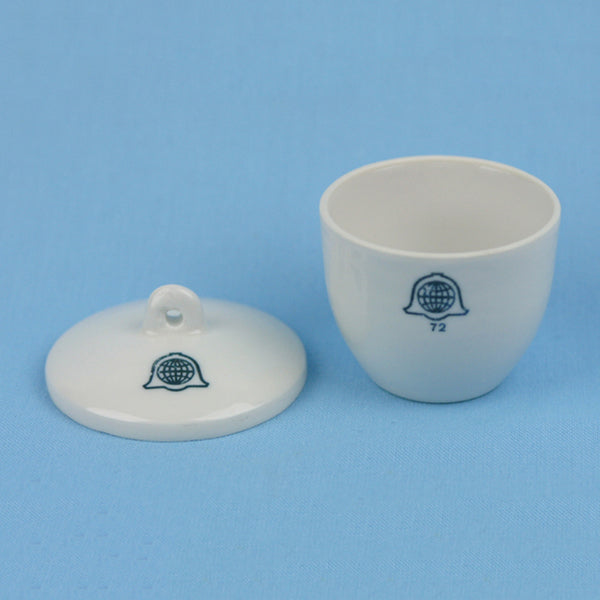 Bellwether 30 mL Porcelain Crucible with Lid - Avogadro's Lab Supply