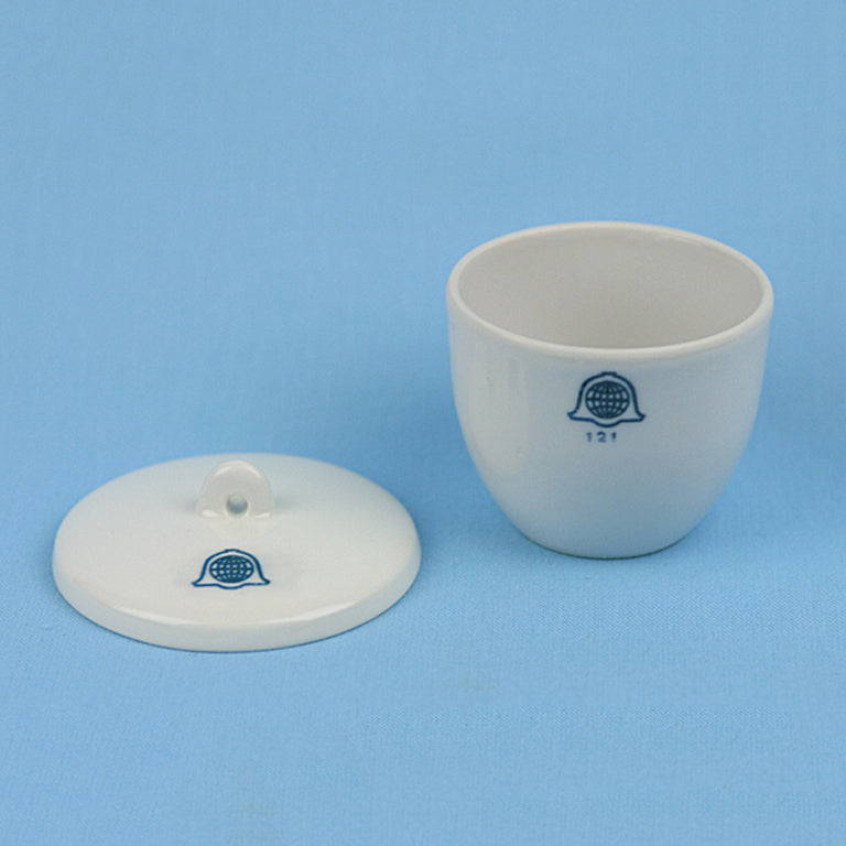 Bellwether 50 mL Porcelain Crucible with Lid - Avogadro's Lab Supply