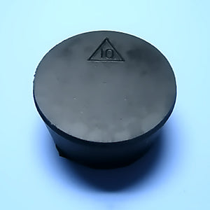 Size 10 Black Rubber Stopper (Count 1) - Avogadro's Lab Supply