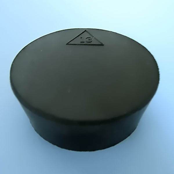 Size 13 Black Rubber Stopper (Count 1) - Avogadro's Lab Supply