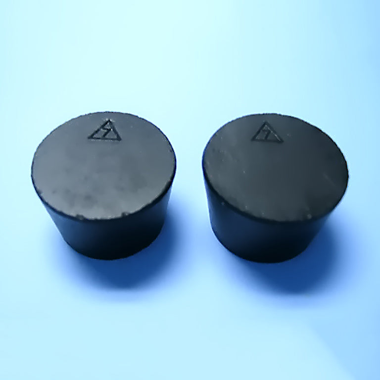 Size 7 Black Rubber Stoppers (Count 2) - Avogadro's Lab Supply