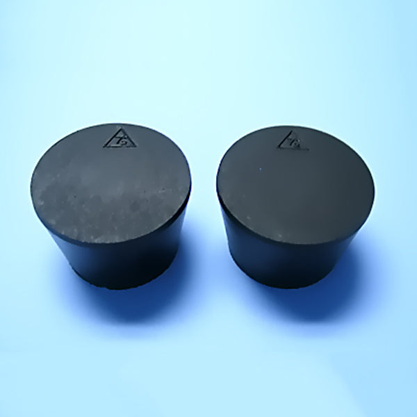Size 7.5 Black Rubber Stoppers (Count 2) - Avogadro's Lab Supply
