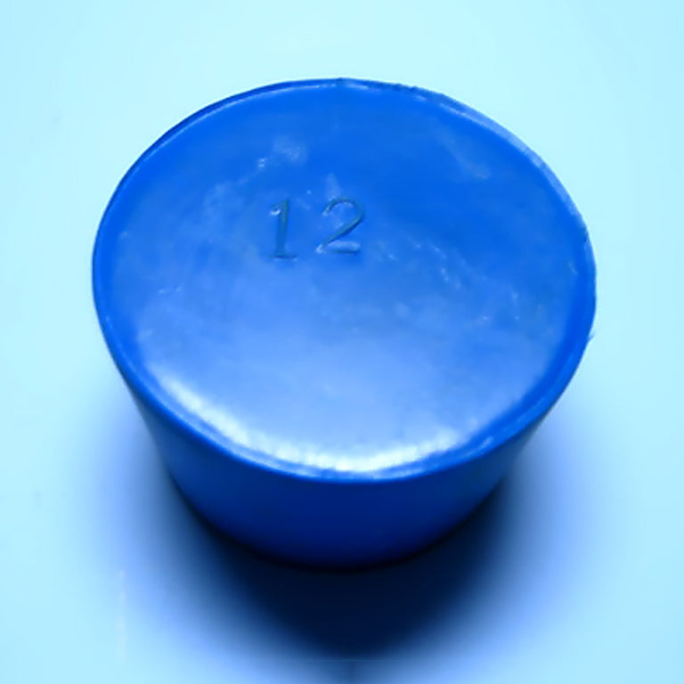 Blue Rubber Stoppers Size 12 (Count 1) - Avogadro's Lab Supply