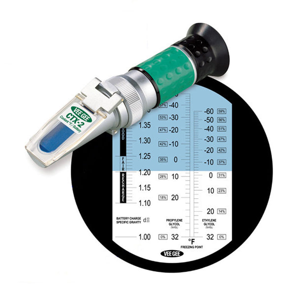 Handheld Refractometer CTX-2 Battery Acid / Coolant - Avogadro's Lab Supply
