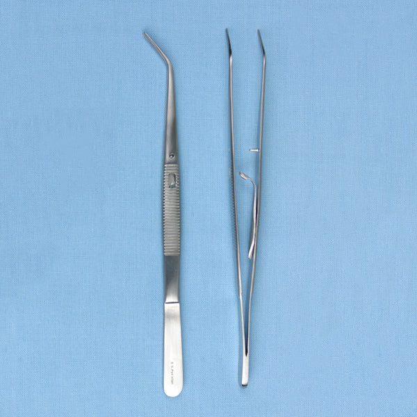 College Angled Forceps w/ Locking Mechanism - Avogadro's Lab Supply