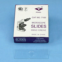 72 Single Concave 1 Well Microscope Slides - Avogadro's Lab Supply
