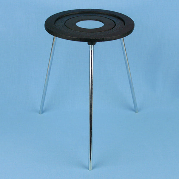 Concentric 3 Ring Cast Iron Tripod Stand