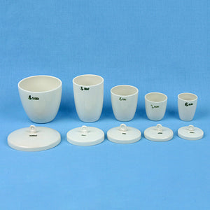 Porcelain Crucible Set with Lids (5 pcs) - Avogadro's Lab Supply