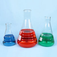 Erlenmeyer Flask Set 250 to 1000 mL - Avogadro's Lab Supply